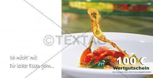 Restaurantgutscheinkarte mit Spruch - Wertgutschein 100 € 216-GS-Restaurant