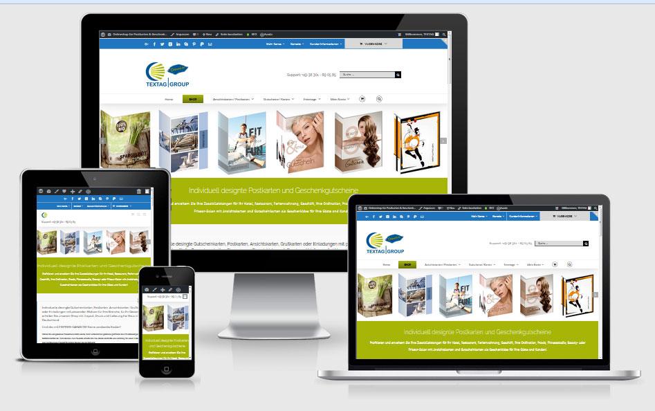 Onlineshop für individuell designte Postkartgen, Geschenkgutscheine, Ansichtkarten