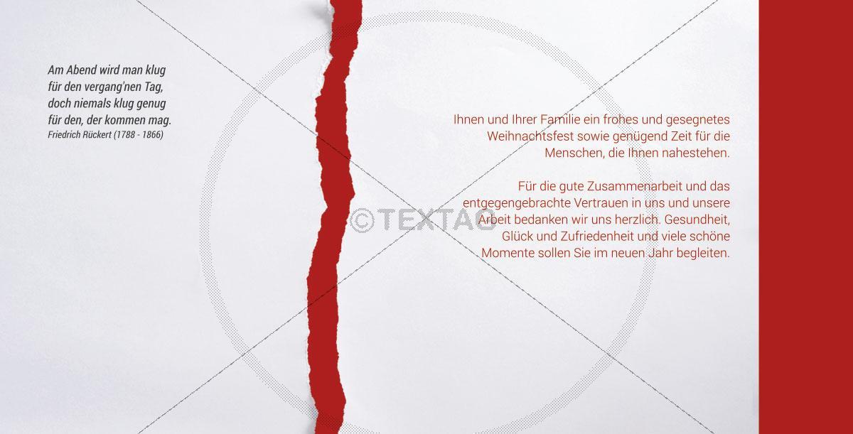 Geschäftliche Weihnachtskarten Text.Elegante Weihnachtskarte Mit Spruch Geschäftlich