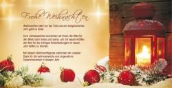 Weihnachtskarten für Firmen - Flyer DIN lang