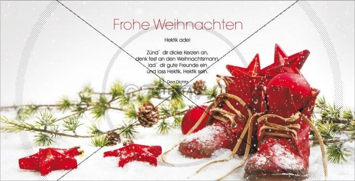 nostalgische Weihnachtskarte mit Spruch, inkl. Druckkosten (32)