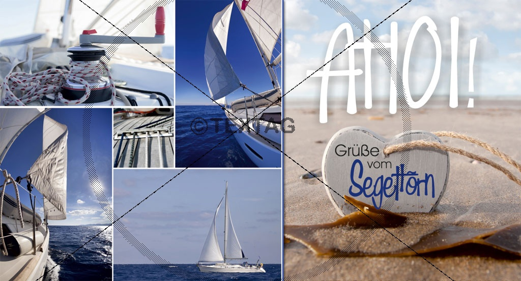 Maxi Card Postkarte - Ahoi - Segeltörn, 2016-MAX-00000168