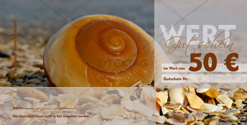 """Schmuck Gutschein """"Das Gold der Ostsee"""", Flyer DIN lang, Rückseite, 192-GS-00125-2"""