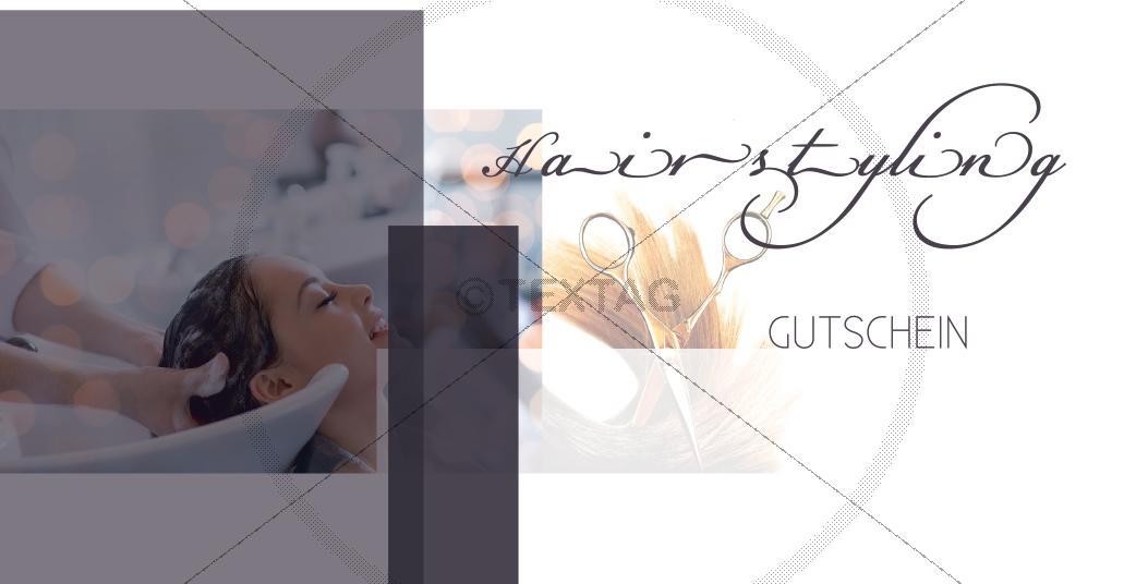 Vorderseite - Hairstyling Wertgutschein, DIN lang, 197-GS-00130-1