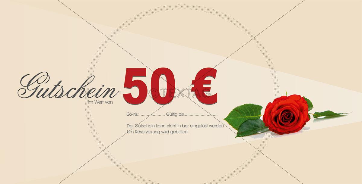 """Wertgutschein """"Rote Rosen"""" für Verliebte 205-GS-Restaurant"""