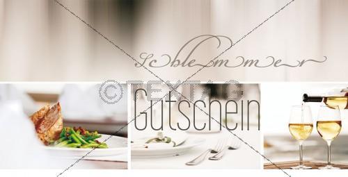 Restaurant Genussgutschein - Wertgutschein - 09-GS-Restaurant