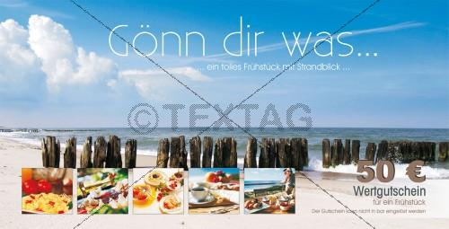 Restaurantgutscheinkarte Strandfrühstück - 214-GS-Restaurant