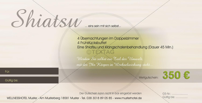Shiatsu Geschenkgutschein - Wertgutschein 350 € (163)