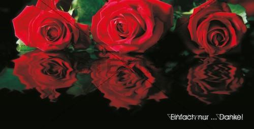 Wertgutschein 150 € - Rote Rosen - 44-danke
