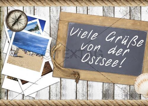 Postkarte Ostseegrüße DIN A6