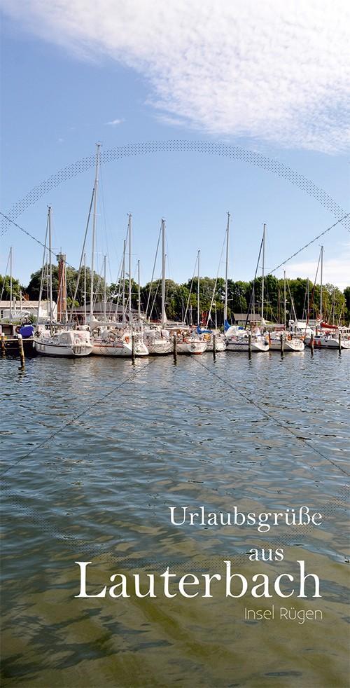 Ansichtskarte Hafen Lauterbach inkl. Druck und Lieferung frei Haus in DE