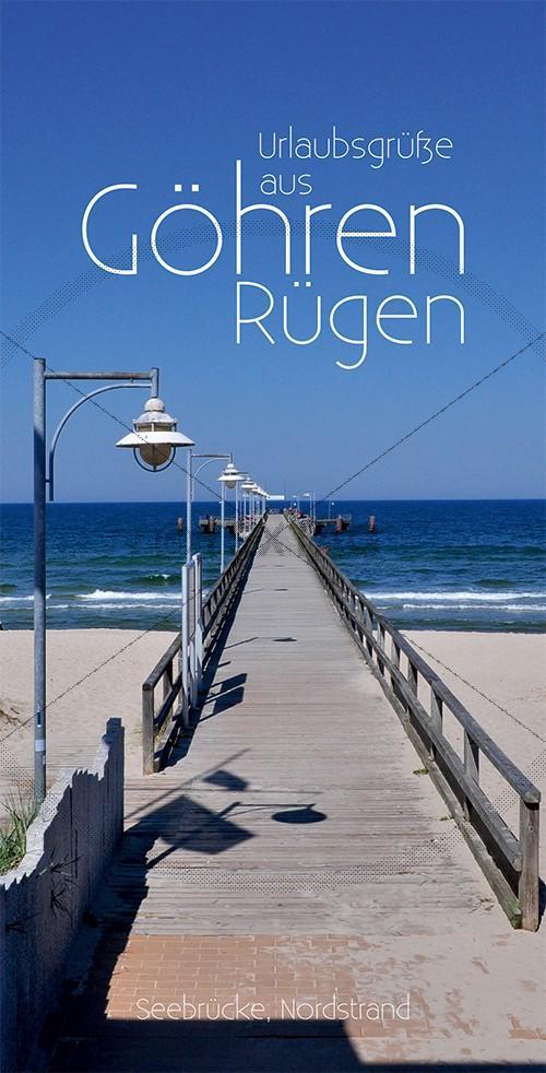 Ansichtskarte Seebrücke in Göhren auf Rügen inkl. Druck & Lieferung frei Haus in DE