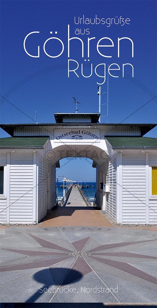 Ansichtskarte Eingang Seebrücke in Göhren auf Rügen inkl. Druck & Lieferung frei Haus in DE