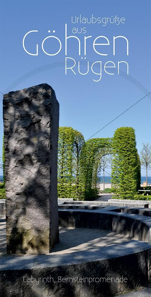 Ansichtskarte Kurpark in Göhren auf Rügen inkl. Druck & Lieferung frei Haus in DE