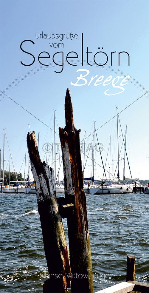Ansichtskarte Segeltörn Hafen Breege auf Rügen inkl. Druck & Lieferung frei Haus in DE