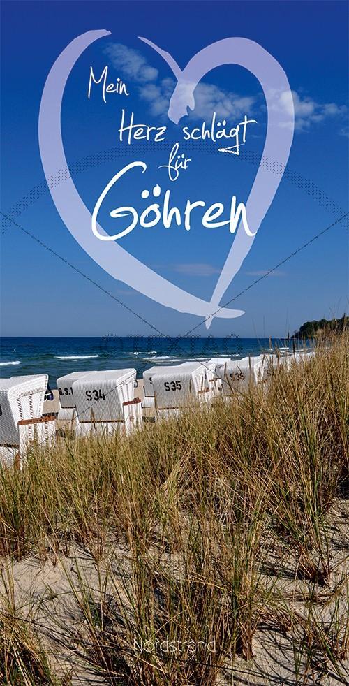 Ansichtskarte Strandkörbe, Nordstrand, Göhren auf Rügen inkl. Druck & Lieferung frei Haus in DE
