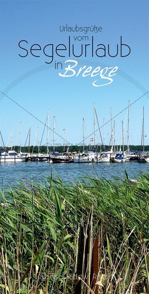 Ansichtskarte Hafen Breege auf Rügen