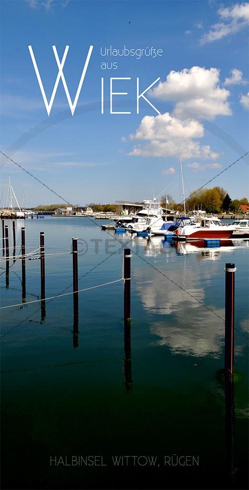 Ansichtskarte Marina, Yachthaften Wiek, Halbinsel Wittow (190)