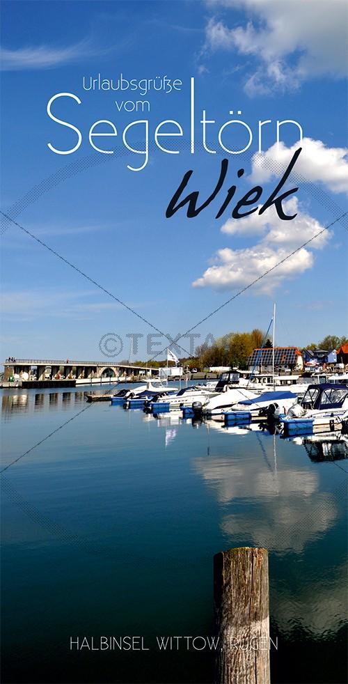 Ansichtskarte Marina, Yachthaften Wiek, Halbinsel Wittow (192)