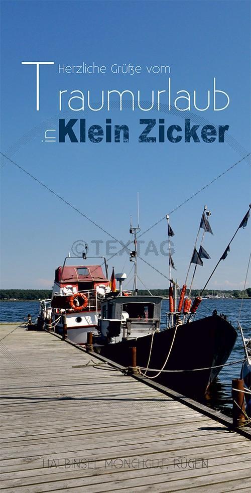 Ansichtskarte Fischerboot, Klein Zicker, Halbinsel Mönchgut auf Rügen (198)