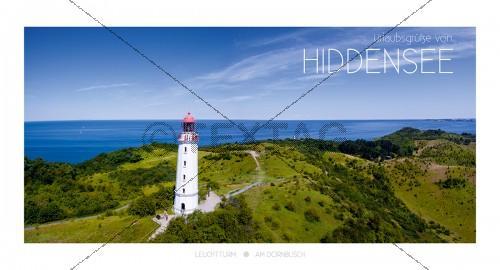 Maxi Card Postkarte - Insel Hiddensee - Leuchtturm - Am Dornbusch (135)