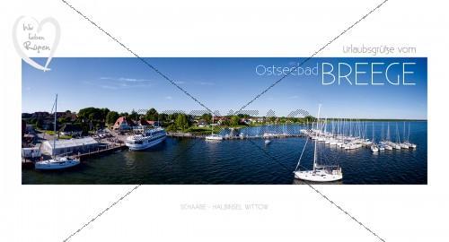 Maxi Card Postkarte - Hafen Breege (139)