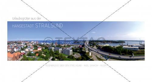 Maxi Card Postkarte - Rügenbrücke - Hansestadt Stralsund (141)