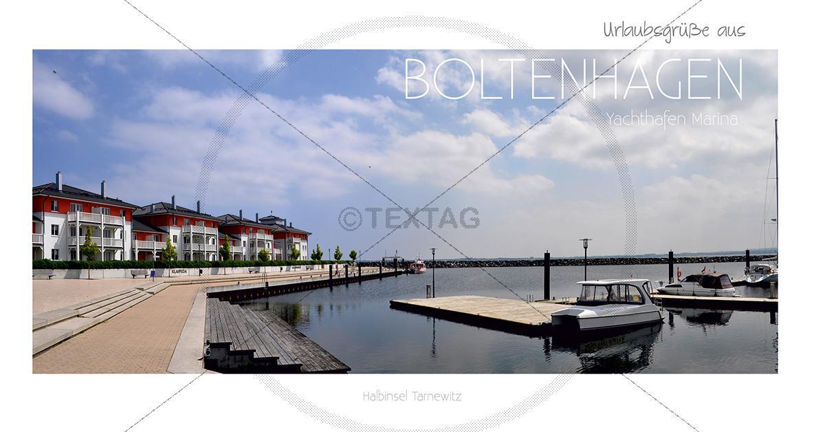 Maxi Card Postkarte - Hafen Boltenhagen (144)