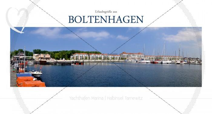 Maxi Card Postkarte - Hafen Boltenhagen (148)