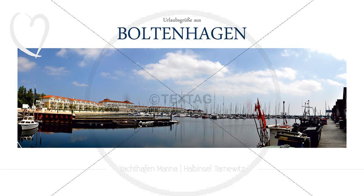 Maxi Card Postkarte - Hafen Boltenhagen (149)