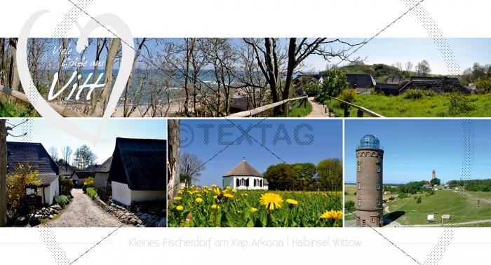 Maxi Card Postkarte - Fischerdorf Vitt am Kap Arkona (153)