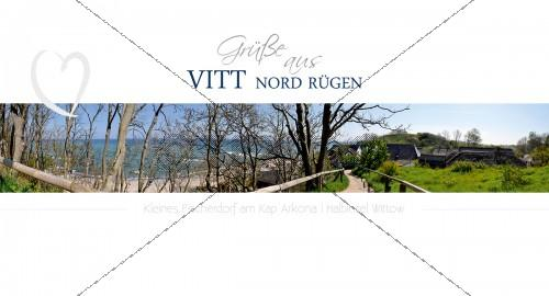 Maxi Card Postkarte - Fischerdorf Vitt am Kap Arkona (154)
