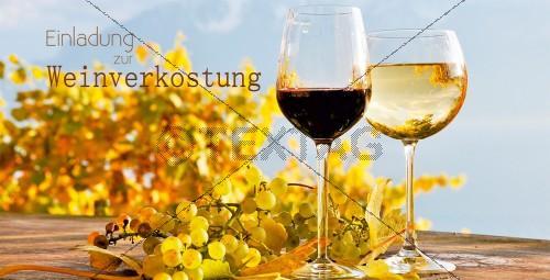 Einladung zur Weinverkostung, DIN Lang (219)