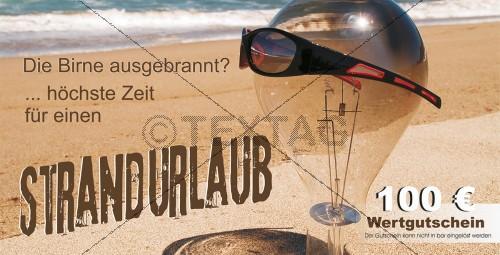 Wertgutschein 100 € - Strandurlaub inkl. Druck (222)