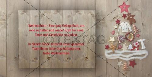 nostalgische Weihnachtskarte mit Spruch (44)