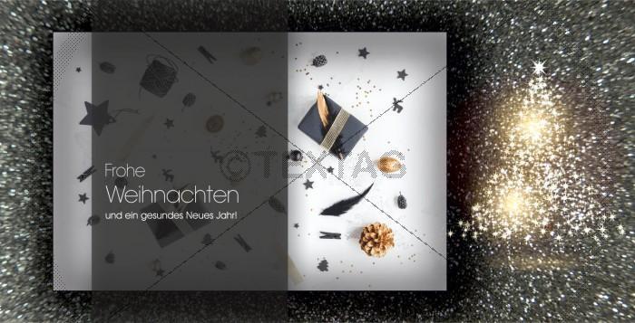 geschäftliche edle Weihnachtskarte mit Spruch, inkl. Druckkosten