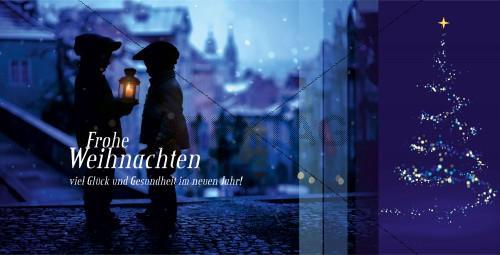 romantische Weihnachtskarte mit Spruch, inkl. Druckkosten (48)