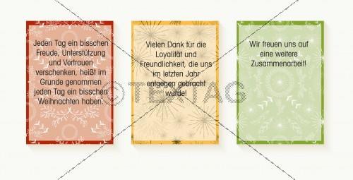 abstrakte Weihnachtskarte mit Spruch (49), inkl. Druckkosten