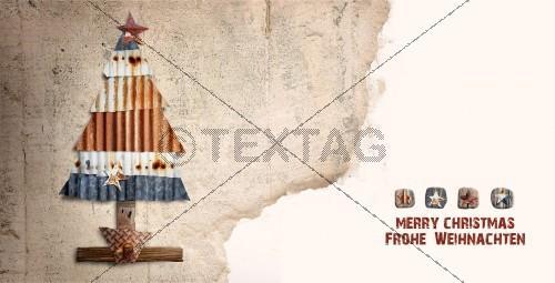 nostalgische Weihnachtskarte mit Spruch (51) inkl. Druckkosten