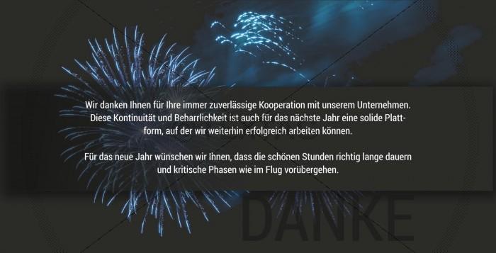 geschäftliche Silvesterkarte mit Feuerwerk, inkl. Druckkosten (55)