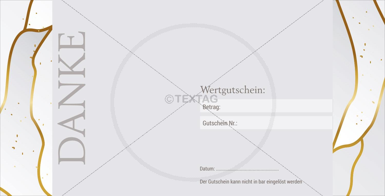 """Wertgutschein """"50 €"""" in Weiß-Gold (225-1)"""