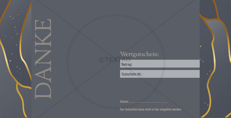 """Wertgutschein """"50 €"""" in Anthrazit-Gold (225)"""