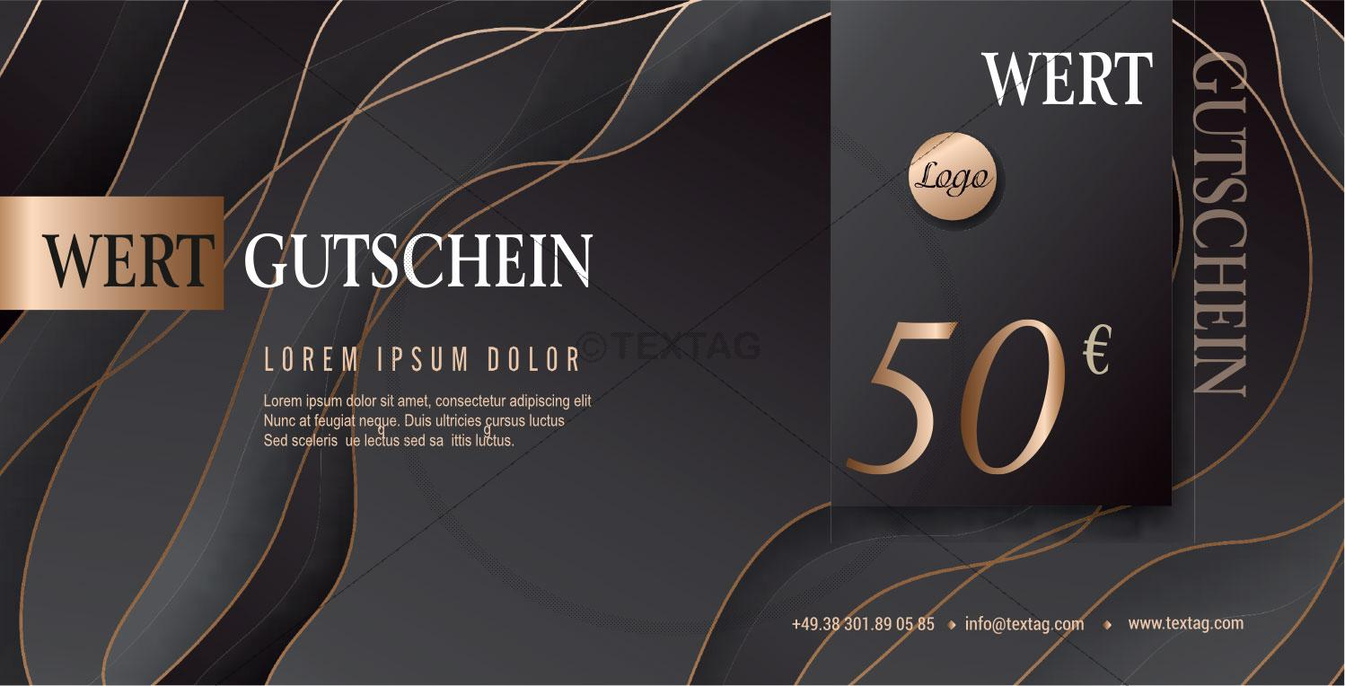 "Wertgutschein ""50 €"" in Anthrazit-Bronze (226-1)"