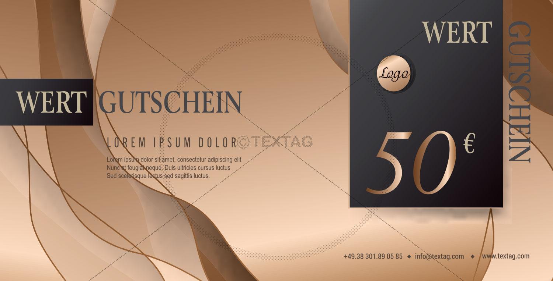 Wertgutschein 50 € in Bronze - Anthrazit (226)