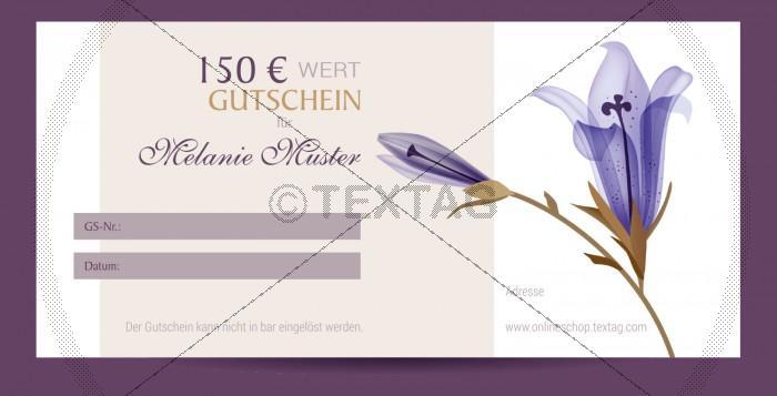 SPA Wertgutschein (150 €), DIN lang (228)