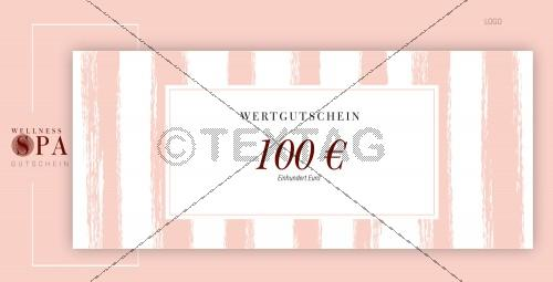 SPA Wertgutschein (100 €), DIN lang (230)