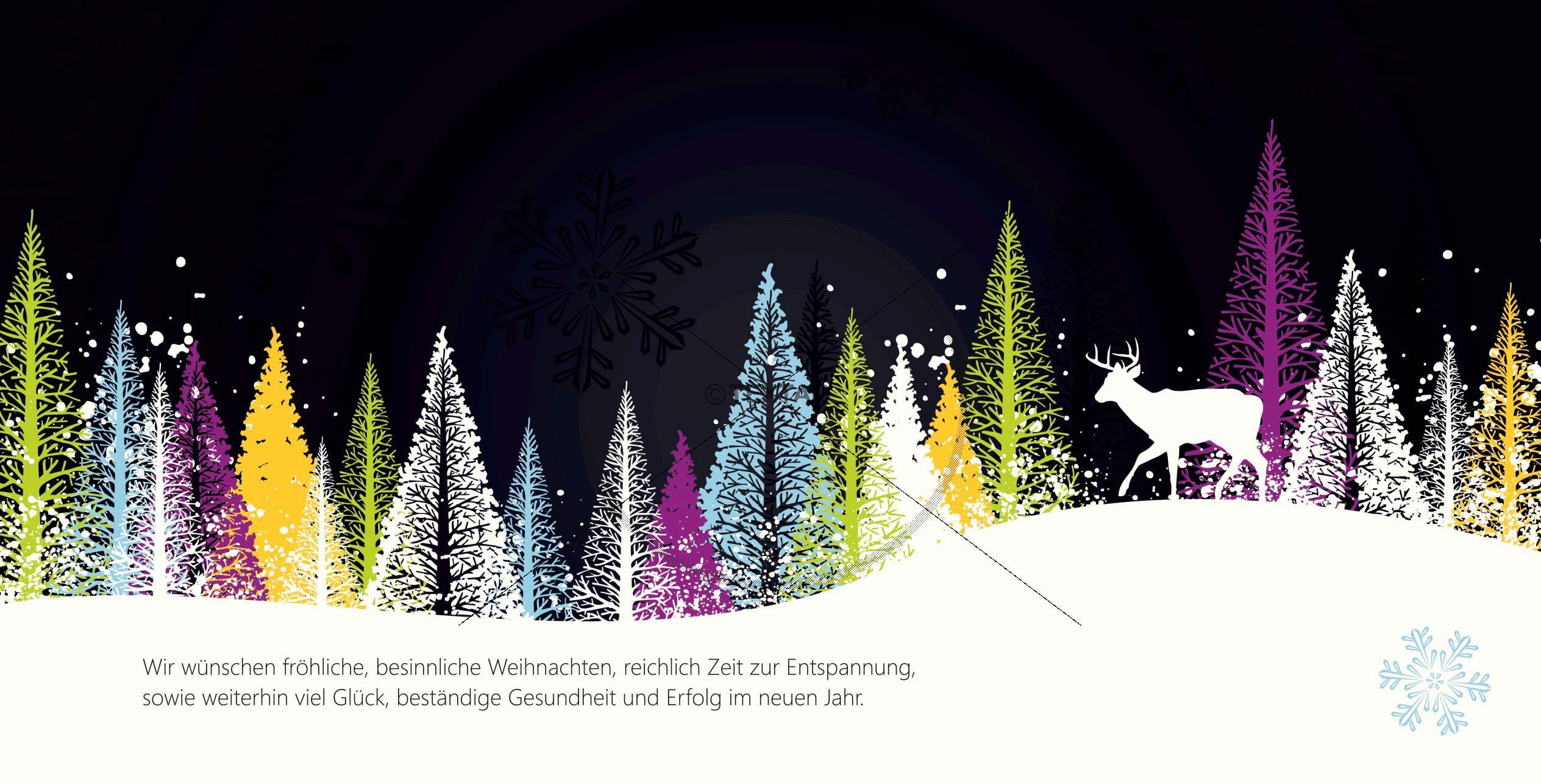 abstrakte Weihnachtskarte mit Spruch inkl. Druck ab 25 Stk. (63)