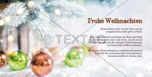edle Weihnachtskarte in Pastellfarben mit Spruch (67)