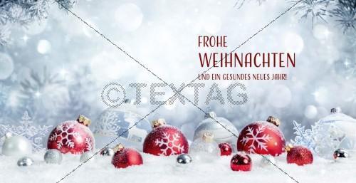 nostalgische Weihnachtskarte in Pastell und Rot mit Spruch, inkl Druck (69)